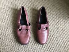 K's BY CLARKS BROWN LEATHER SHOES SIZE 5.5