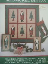 Vintage BELSNICKELS GERMAN SANTAS Primitive Folk Art Pattern Country Appliques