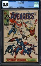 AVENGERS #58 - CGC 8.0, Off-White to White Pages, Origin of the Vision story
