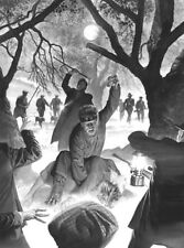 Alex Ross SIGNED Universal Monsters Sideshow Art Print ~ Lon Chaney Jr Wolf Man