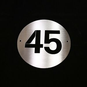 Brushed Stainless Steel PERSONALISED NUMBER Sign