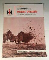 Vtg McCormick IH International Harvester Manure Spreaders Sales Brochure Catalog