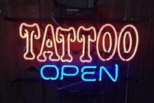 "New Tattoo Open Body Piercing Open Beer Bar Neon Light Sign 17""x14"""