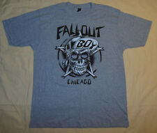 Fall Out Boy Chicago Concert T Shirt L Mens By Tultex Skull Hat In Pentagram New