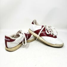 Vintage Reebok Sneakers Red White Low Top Tennis Shoes Womens Size 6.5 Guc Vtg