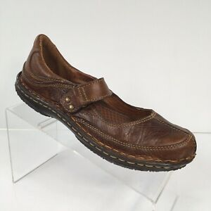 Born Size 8.5M Brown Leather Mary Jane Comfort Shoes Art To Wear