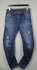 G-STAR ARC 3D LOOSE TAPERED Men's W32/L34 Ripped Twisted Blue Jeans 19301_KK
