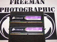 Corsair DDR2 2GB (2x 1GB) Matched Pair XMS2 PC2-6400 CM2X1024-6400C4 RAM Tested