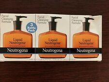 (3) Liquid Neutrogena Facial Cleansing Formula Fragrance Free - 24 total oz.