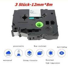 12mmx8m 50g Tze-231 Black on White Compatible for Brother Label TapeSchreibwaren