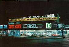Photo. 1950s. Columbus, Ohio.  Simeon Edsel Co. Auto Dealership