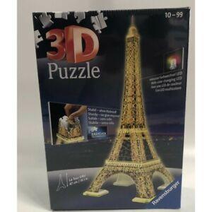 PUZZLE 3 D TOUR EIFFEL LA NUIT AVEC UNE LED DE COULEUR EDITION DE CHEZ RAVENSBUR