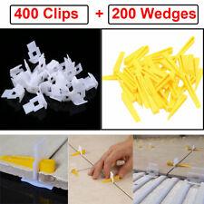 600 Tile Leveling System 400 Clips + 200 Wedges Tile Leveler Spacers Lippage