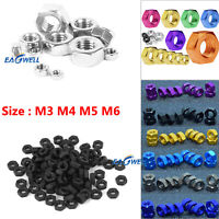 10/20PCS M3 M4 M5 M6 Bolt Hex Screw Nuts Craft Aluminum DIY Hardware Nut Colours