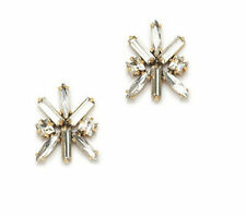 Women's Fashion Gold Plated Brand Cluster Crystal Stud Earrings E0802