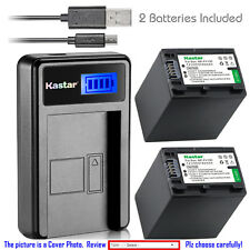 Kastar Battery LCD Charger for Sony NP-FH100 & Sony Cyber-shot DSC-HX1 DSC-HX100
