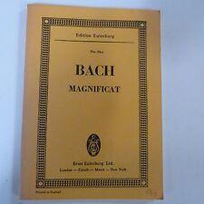 mini pocket score BACH Magnificat , Eulenburg 964