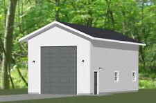 20x40 1-RV Garage -- 800 sq ft -- PDF Floor Plan -- Model 2A