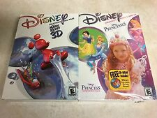 2 games DISNEY magic artist 3d + princesses cd-rom windows 95/98 (NEW SEALED)