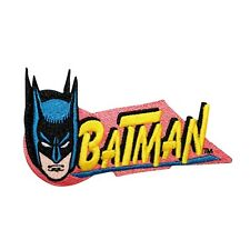 Retro Batman Comics Caped Crusader Logo DC Kids Superhero Iron-On Applique Patch