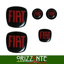 KIT 5 STEMMI FIAT 500/PUNTO/BRAVO ANT-POST-VOLANTE  ADESIVO 3D RESINATO Stickers