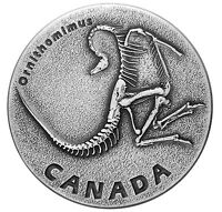 2017 Canada $20 Ancient Canada Ornithomimus Dinosaur fossils 1oz Silver coin