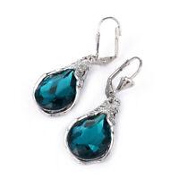 zappeln mode - schmuck blauer edelstein - ohr - hengst sapphire ohrringe