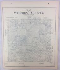 Antique General Land Office Map Stephens County Texas Showing Plats ++