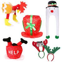 NOVELTY CHRISTMAS HATS 5 PACK XMAS FANCY DRESS PARTY OFFICE WORK NOVELTY HATS