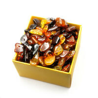 Baltic amber loose beads chips 20 grams multicolor
