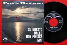 "PAOLA BERTONI STRINGIMI PIU'FORTE 1966 SCHLAGER RARE ITALIAN 7"" PS N/MINT"