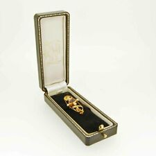 9ct Gold Antique Bar Brooch, Set with Amethyst & Seed Pearls