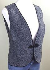 PENDLETON Tapestry Wool Vest Asian Frog Button Closure Women's Medium