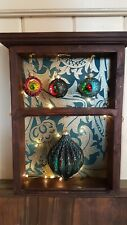 Solid wood wall shelf WILLIAM MORRIS perfect christmas gift* GIN SHELF *storage*