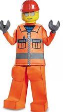 Disguise LEGO Construction Worker Boys Prestige Costume Orange Size Small 4-6