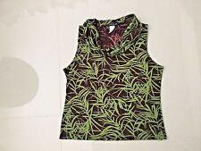 Womens Multi Color Central Park West Sleeveless Knit Top Cowl Neckline  Top sz L