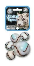 Mega Marble WHITE TIGER MARBLE NET 24 Player Marbles & 1 Shooter Marble