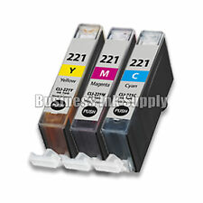 3 Color CMY Canon CLI-221 CLI 221 Color Ink iP3600 iP4600 Chip