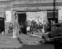 Photograph Shoeshine at Boston Vintage Shoe Shop Selma Alabama  1935   8x10