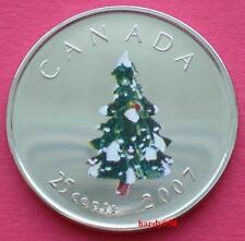 🎁 2007 25 cents Christmas Tree colorized - Brilliant Unc