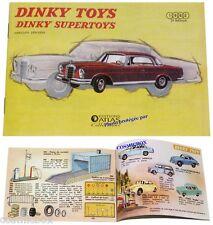 DINKY TOYS catalogue ancien auto voiture supertoys 1963 ré-édition 32 pages NEUF
