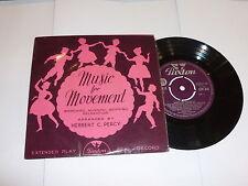 "MUSIC FOR MOVEMENT - Herbert C Percy - Scarce 1961 UK 7"" Vinyl Single"