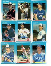 Steve Garvey signed 1987 Fleer #414 Padres Dodgers