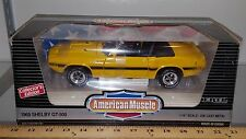 1/18 ERTL AMERICAN MUSCLE 1969 FORD MUSTANG SHELBY GT-500 CONVERTIBLE YELLOW bd2