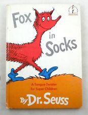 FOX IN SOCKS - Dr. Seuss - Hardcover - Early Printing Circa Mid 1960s - Beginner