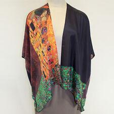NEW NWT Cocoon House The Kiss Art to Wear 100% Silk Kimono Top Large/XL (1X 2X)