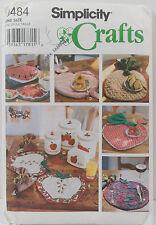 Simplicity Crafts Pattern #9484 Fruit theme Place Mats Napkins Accessories
