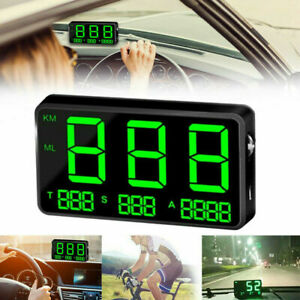 DIGITAL GPS SPEEDOMETER HUD MPH/KM/H OVERSPEED WARNING CLOCK FOR CAR MOTORCYCLE