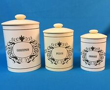 Vtg Set 1960s Victorian Goth Witch Apothecary Vanity Bath Containers