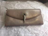 Kate Spade New York Gray Leather Hook Closure Envelop Wallet Clutch
